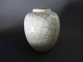 Excellent, beautiful  Yongzheng  Ge - type vase