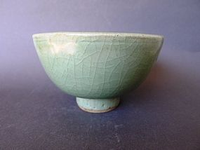 A large, nice, sea-green Ming Dynasty 15th century Longquan bowl