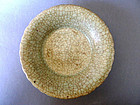 """Extremely rare, museum-quality  Song - Yuan """"Ge"""" type dish, Geyao"""