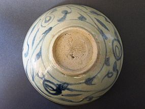 A Ming Dynasty Swatow ware blue and white dish