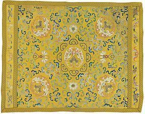 A rair, highest quality  Imperial Qianlong embroidered silk