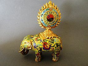 A  nice, high quality 19th. century Cloisonne caparisoned Elephant