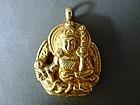 Tibetian pendant of Yama / Irma, the Tibetian God of the Underworld