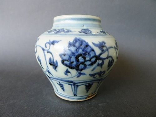 A perfect Ming Dynasty Yongle Period blue and white Lotus Jar