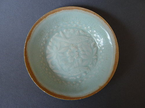 A Southern Song Qingbai double fish dish, superb blue-green glaze