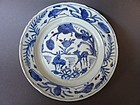 A nice Ming Wanli blue and white Dish with Deer