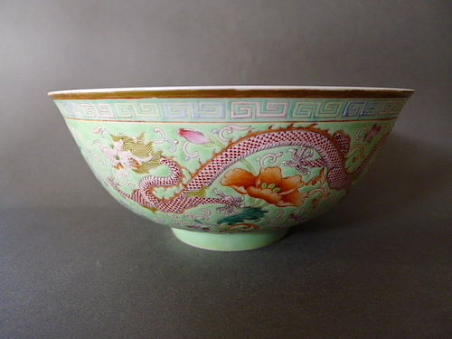 A superbly enameled Imperial Guangxu Mark and Period Bowl
