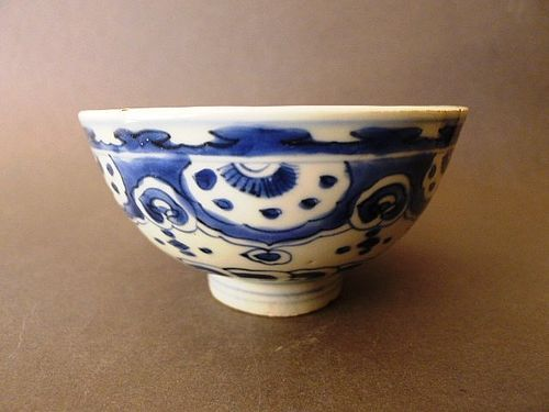 A nice Ming Dynasty, Wanli period blue and white bowl