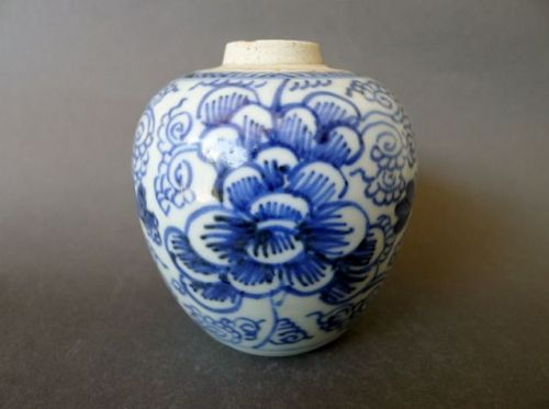 Extraordinary nice Qing late 18th century blue and white jar / vase