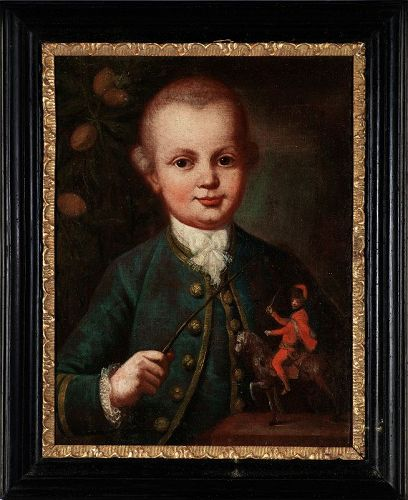 Most probably the earliest portrait of W. A. Mozart
