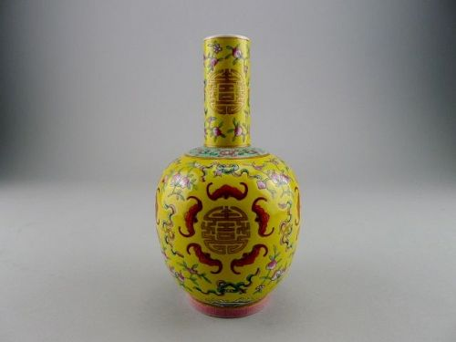 A very good marked Guangxu bottle vase