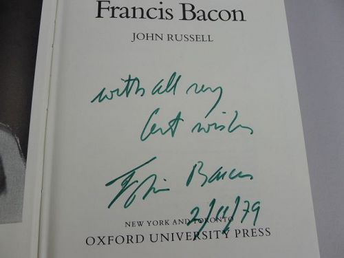 A Very Rare Signed Francis Bacon Book