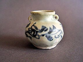 Rare Yuan Dynasty blue and white jarlet