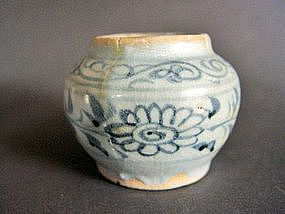 Rare Yuan Dynasty blue and white jarlet.