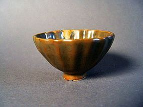 A rare Song Dyn. Yaozhou kilns fluted Cup