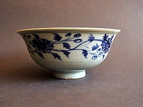 Extremely nice Yuan Dynasty blue and white Bowl