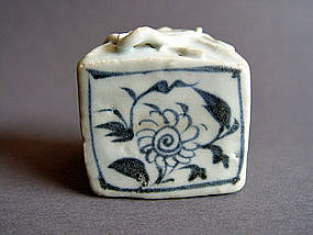 Rare Yuan Dynasty Jar of cuboid  form