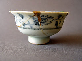 Yuan Dynasty blue and white bowl ( cup )