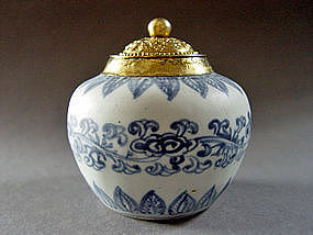 Superb Ming Chenghua blue and white Jar