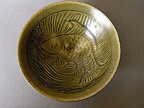 A carved Northern Song Yaozhou Bowl