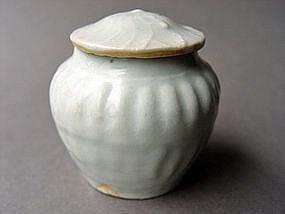 Yuan Qingbai glazed Jar with Lid