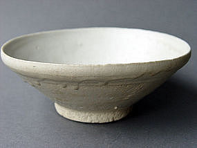 Tang to Five Dynasties white glazed bowl