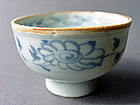 Yuan Dynasty  blue and white high Cup in a rare shape