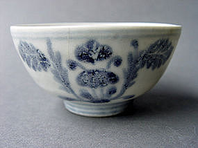 Late Ming Dynasty blue and white bowl