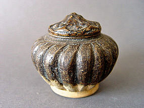 Yuan brown glazed Jar with its original Lid