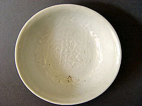 Rare molded early Ming Dynasty Dish