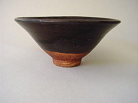 Yuan Dynasty brown glazed bowl !