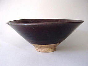 Big Yuan Dynasty brown glazed bowl !