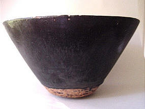 Very big Song - Yuan dark brown glazed bowl !
