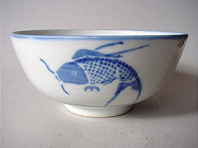 Qing Dynasty blue and white bowl !