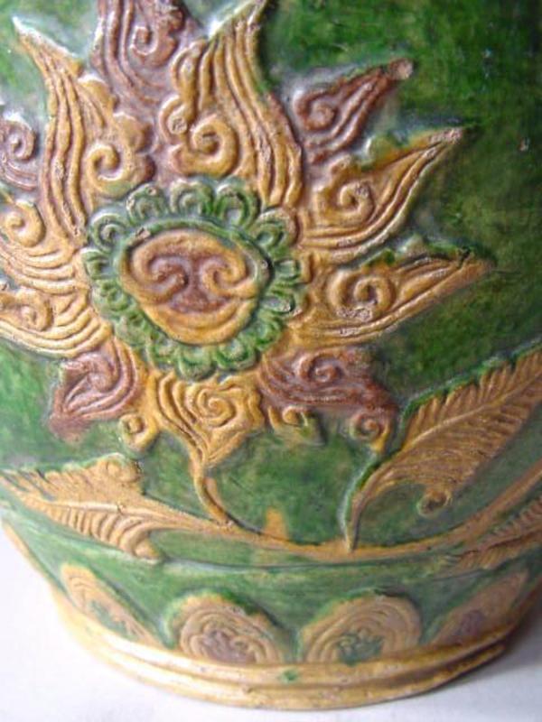 Rare Fahua ware three coloured jar !