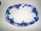 PEACH FLOW BLUE PLATTER 14'' BY 11'' JOHNSON BROS ENGLA