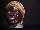 VINTAGE BLACK AMERICANA MAMMY STRING HOLDER - RARE