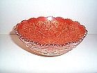 VINTAGE HATTIE IMPERIAL MARIGOLD CARNIVAL GLASS BOWL