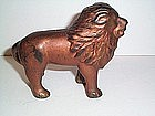 VINTAGE CAST IRON LION STILL BANK 5''