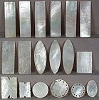 18 mother of pearl Chinese export LOO CHIPS / COUNTERS