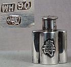 19c Chinese Export silver SALT hallmarked WH