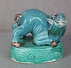 19c Chinese porcelain sculpture MYTHICAL BEAST
