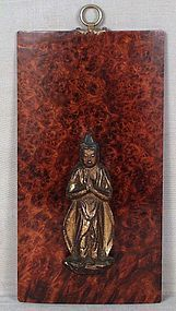 18/19c Japanese lacquer BODDHISATTVA
