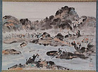 Japanese scroll painting LANDSCAPE by SHOSEN