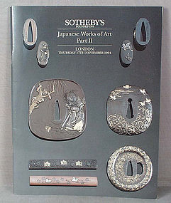 SOTHEBYS catalog Japanese Sword fittings 1994