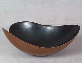 Japanese copper BOWL by HIROSHI SUZUKI