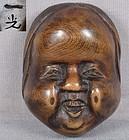 19c netsuke mask OKAME by IKKO