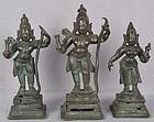 17c Indian bronze RAMA / SITA / LAKSHMANA TRIAD