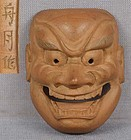 19c netsuke SHISHIGUCHI mask by SHUGETSU