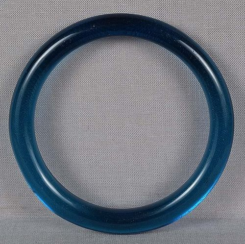 19c Chinese Peking glass aquamarine bangle BRACELET